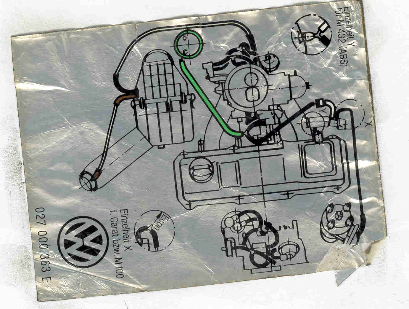 Jetta Mk2 18 Carb Vacuum Hose Connections The Volkswagen Club Of Vw 8v Engine Diagram Image